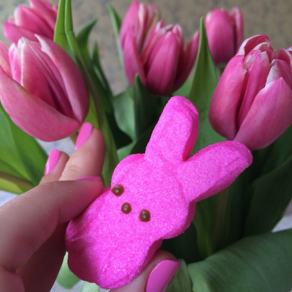 Pink Tulips, Manicure, and Candy for Easter
