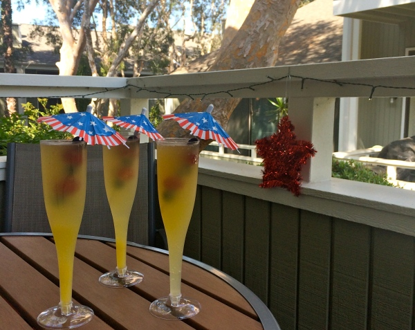 Fourth of July Mimosas