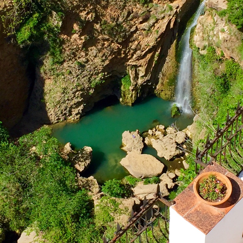 Waterfall in Ronda Spain