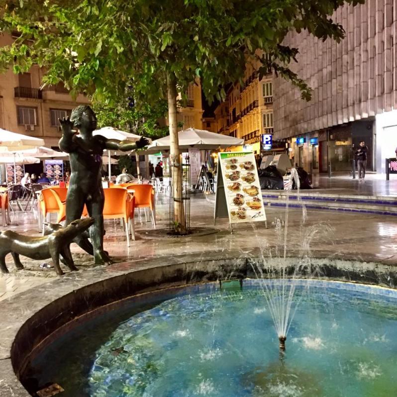 Centro de Málaga Fountain