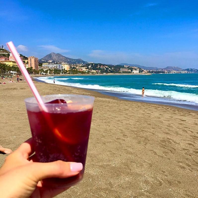 Sangria at Playa de la Malagueta