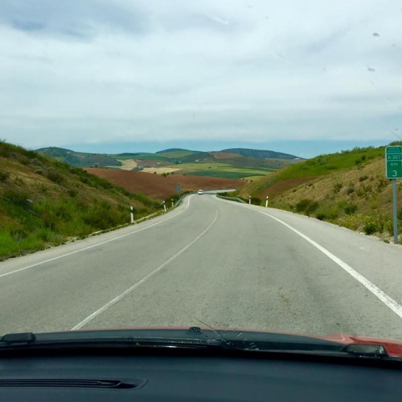 Driving through Spain